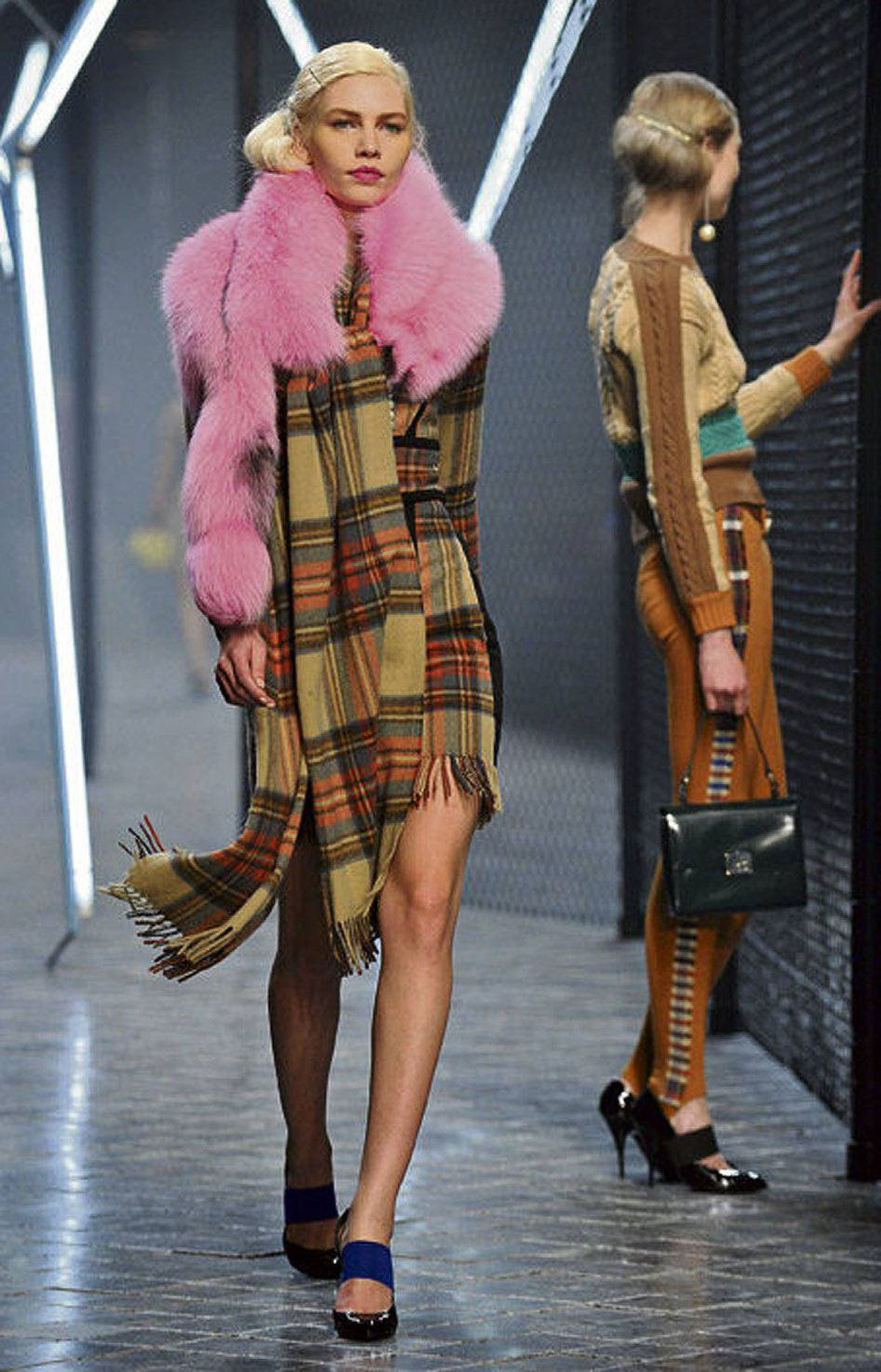 Plaid, on the runway