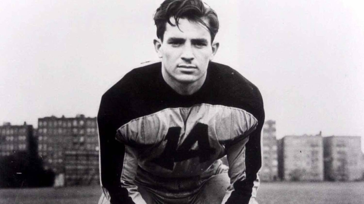 A young Jack Kerouac in his Columbia University football uniform.