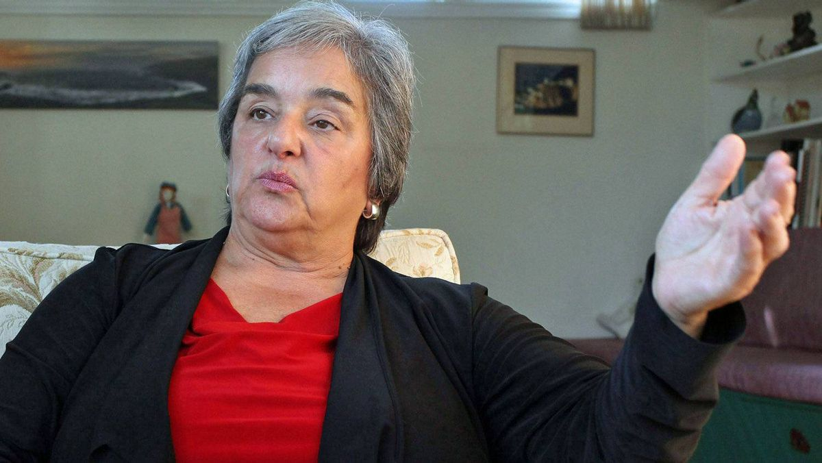 Newfoundland NDP Leader Lorraine Michael gives an interview at her home in St. John's on Sept. 13, 2011.