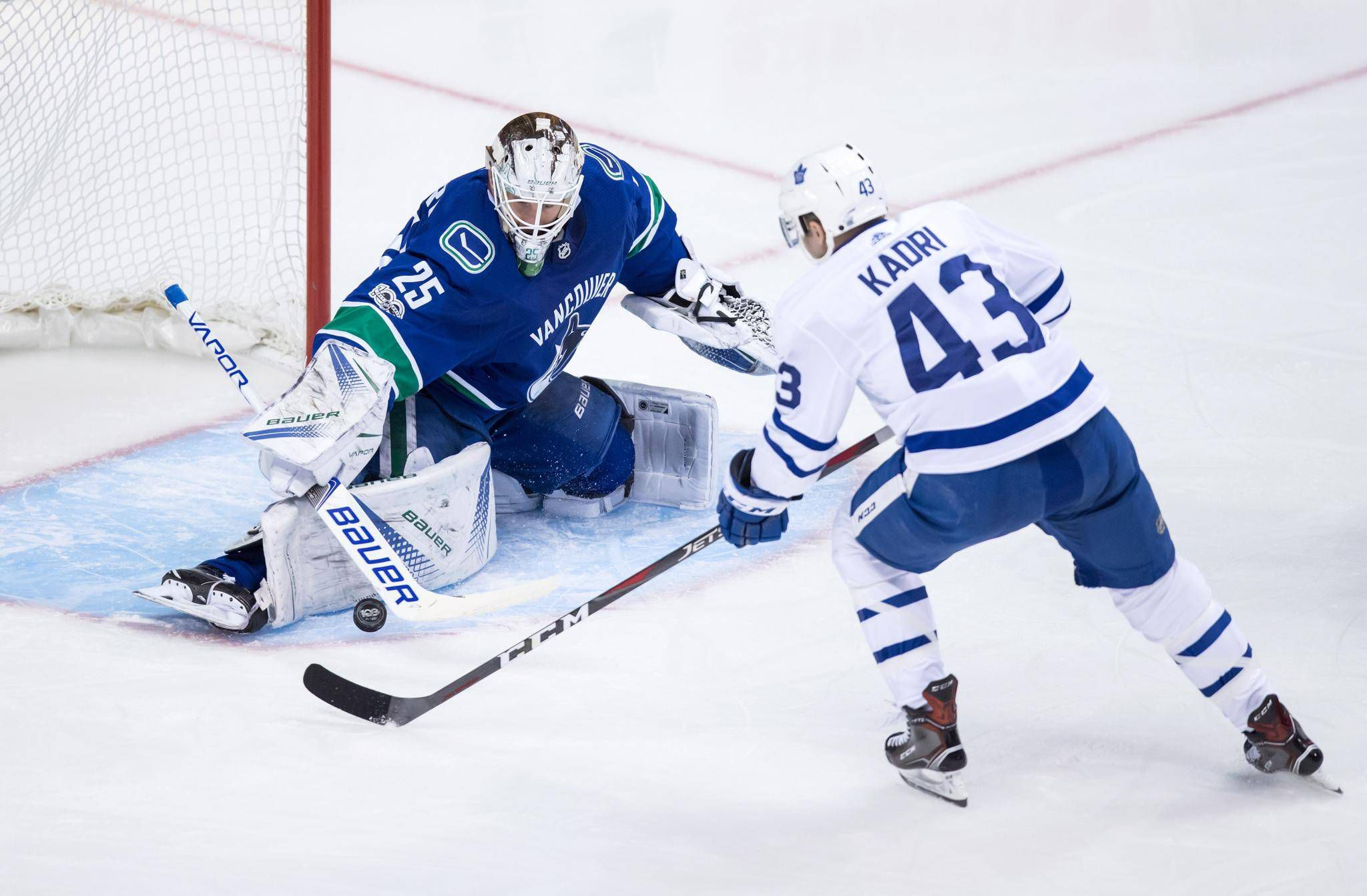 df8a9d811be Jacob Markstrom makes 35 saves to lead Vancouver Canucks past Toronto Maple  Leafs
