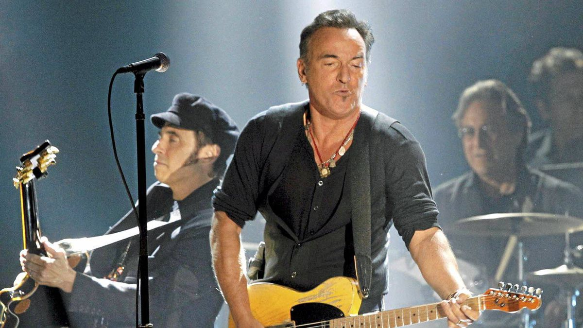 Bruce Springsteen performs at the 54th annual Grammy Awards in Los Angeles, Feb. 12, 2012.