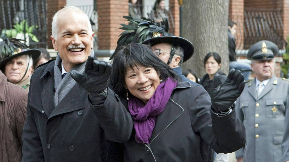 New Democratic Leader Jack Layton and his wife, fellow MP Olivia Chow, campaign in Toronto on the Easter long weekend.