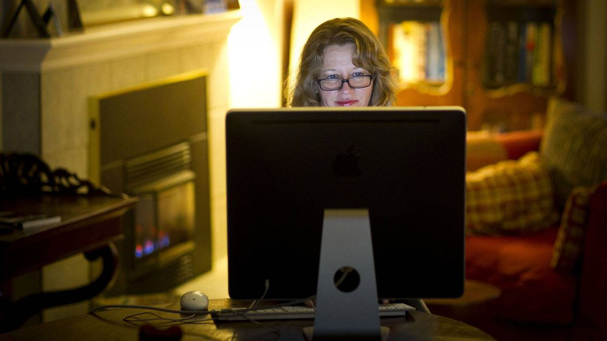 Vivian Krause, who blogs from her dining room table seen here January 9, 2012 at her home in North Vancouver, is the source of much of the information about how U.S. donors are funding environmental opposition in Canada. Often donations from U.S. groups are channelled through Tides Canada, an approach that allows Americans to make donations to Canadian charities but have a local organization determine the most effective use of the money.