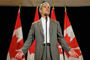 Liberal Leader Michael Ignatieff speaks to reporters on the final day of the party's summer caucus retreat in Sudbury on Sept 2, 2009.