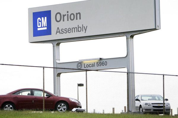 The General Motors Orion Assembly sign is seen at the plant in Orion Township, Mich., Monday, June 1, 2009. The automaker filed for bankruptcy protection on Monday morning in a deal that will give taxpayers a 60 percent ownership stake and expand the government's reach into big business. The automaker will idle the Orion Assembly.