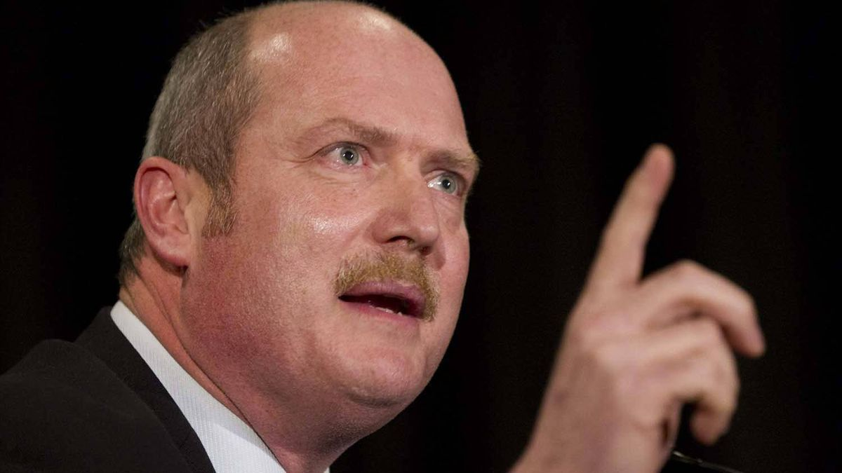 B.C. Health Minister Mike De Jong speaks during a public forum in Vancouver, B.C., on Jan. 12, 2011.