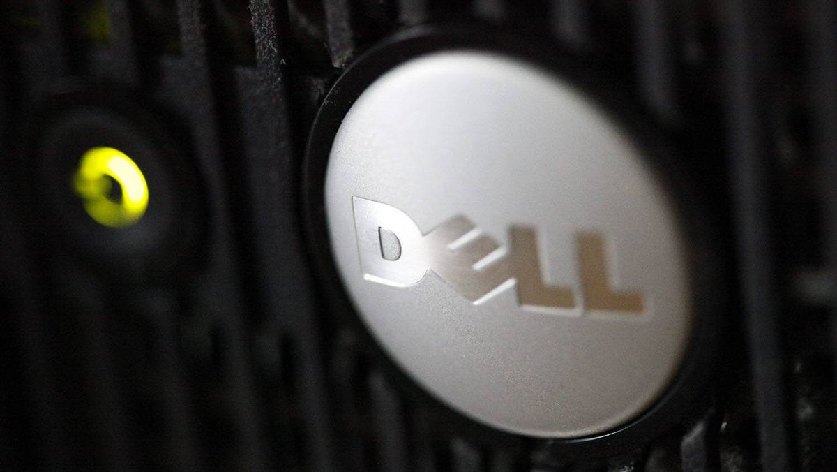 The logo on a Dell computer is displayed in Philadelphia, Aug. 15, 2011.