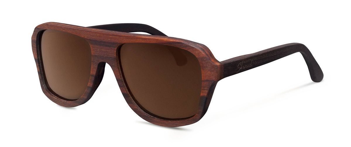 Wear it Classic aviator chic gets an earthy makeover with Shwood's Ashland sunglasses. Handcrafted from sustainably harvested East Indian Rosewood, these all-natural shades have 100 per cent UVA/UVB protection through polarized lenses made by Carl Zeiss. Even though the frames are treated with a natural beeswax coating to protect the wood, it?s best to keep them out of the water and away from the campfire. $155 (U.S), shwoodshop.com