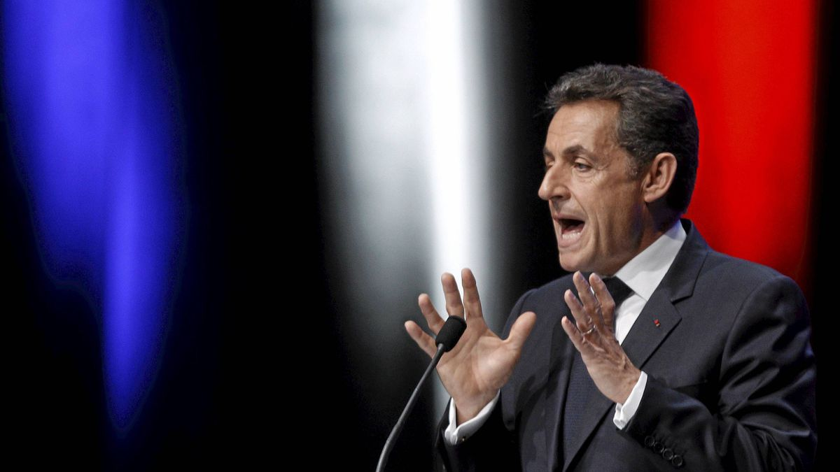 France's President Nicolas Sarkozy delivers his speech on the euro zone financial crisis in Toulon, south eastern France, Dec. 1, 2011.