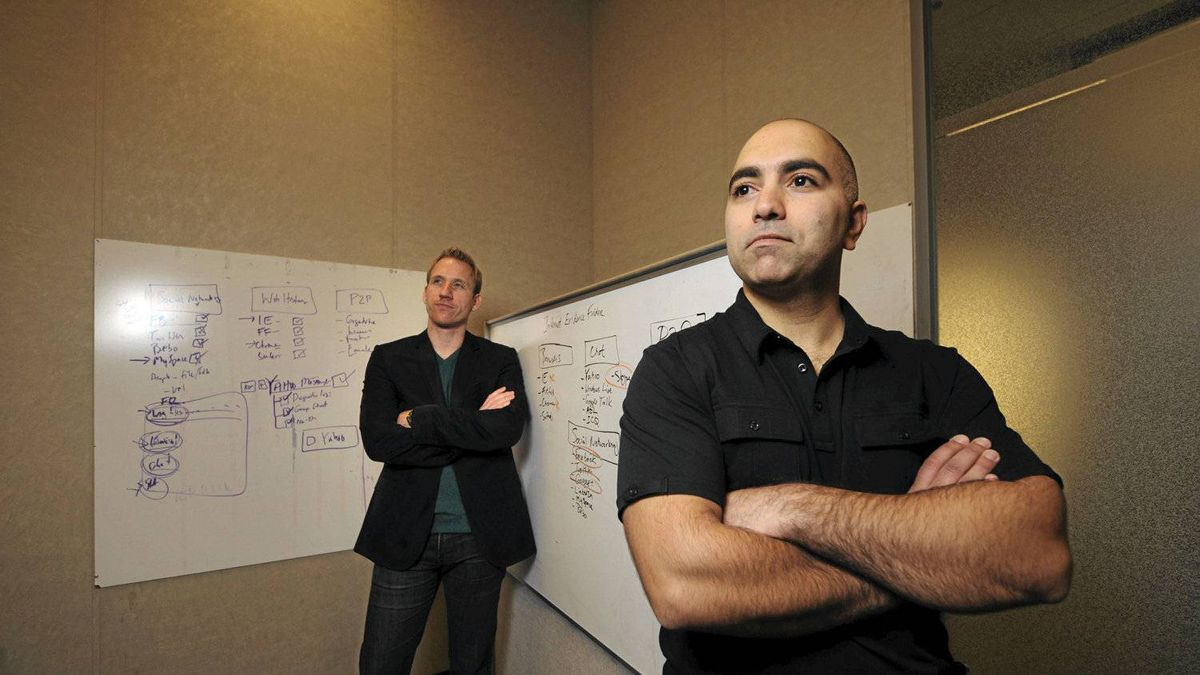 Former police officer and founder of JADsoftware Jad Saliba, right, recently partnered with Adam Belsher, left, to help guide the company's growth.