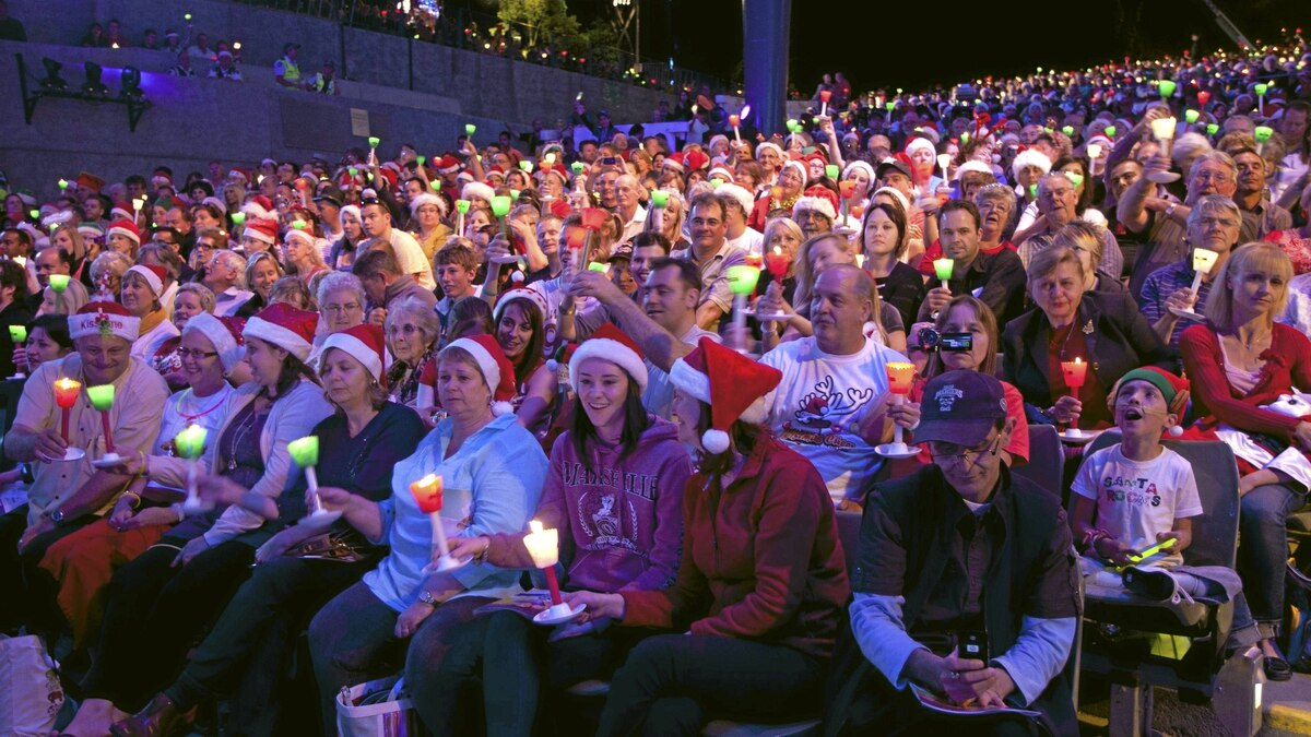 Carols by Candlelight, Melbourne, Australia: This year, at Melbourne's Sidney Myer Music Bowl a sell-out crowd of 10,000 will be led by Australian Idol winner Stan Walker. You can catch the live show free of charge by joining carollers gathered before giant screens in Federation Square.