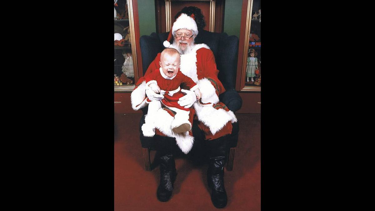 Danielle Fiander photo: Cassidy is not a fan of Santa - 14 month old Cassidy from Milton, ON. This is our second attempt at a picture with Santa!