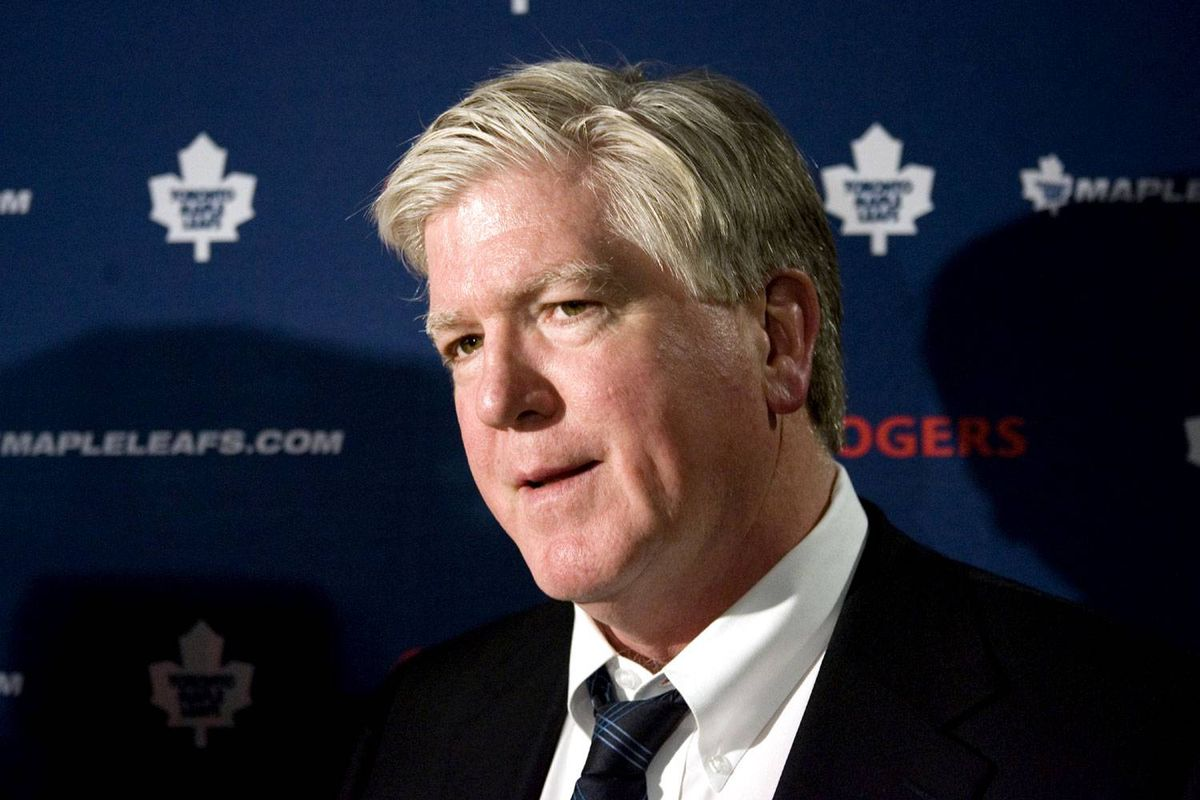 Brian Burke, President and General Manager of the Toronto Maple Leafs