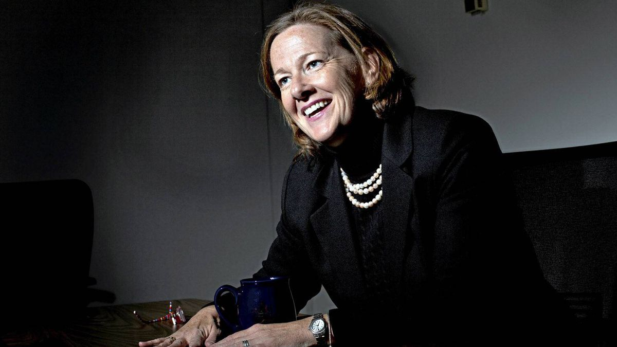 Alberta Premier-designate Alison Redford pictured during an interview at the Legislature Annex Building in Edmonton October 4, 2011.