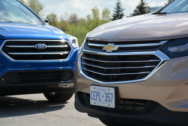 Faceoff: Ford Escape vs  Chevrolet Equinox - The Globe and Mail