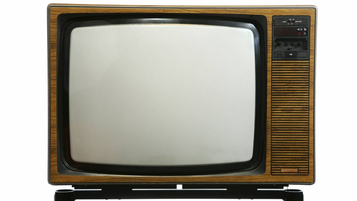 A television set from the 1970s.