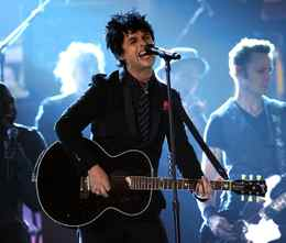 Musician Billie Joe Armstrong of Green Day performs onstage at the Grammys.