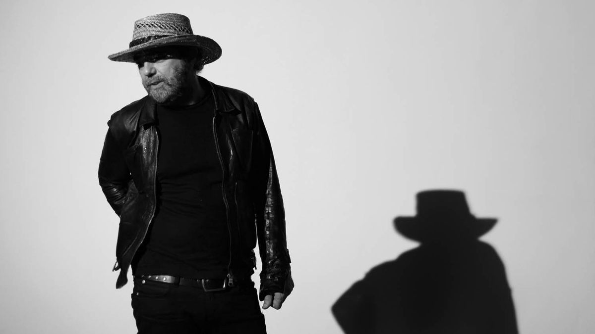 Producer and musician Daniel Lanois plays in his Toronto studio Sep 28, 2010.