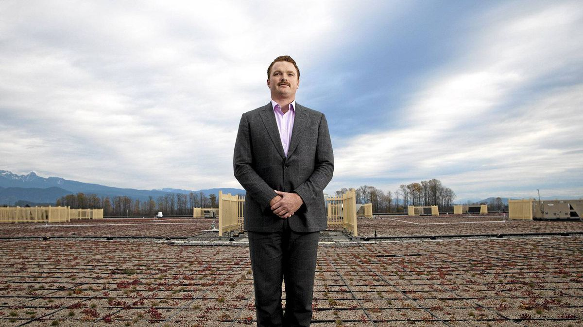 Onni Group's Mike Mackay on Walmart's green roof in Port Coquitlam, B.C.