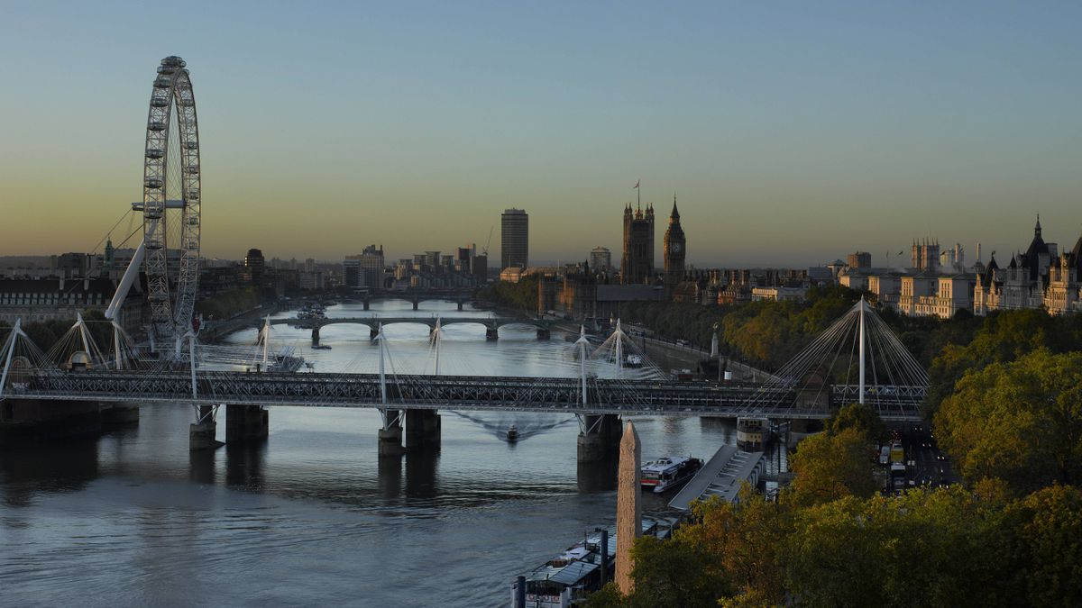 The river view from the Savoy Hotel in London.