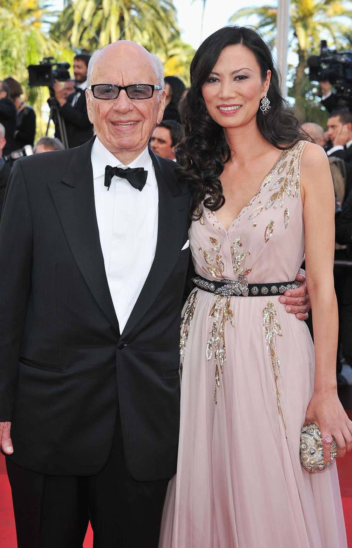 """Rupert Murdoch and wife Wendi attend """"The Tree Of Life"""" premiere at the Cannes Film Festival on Monday."""