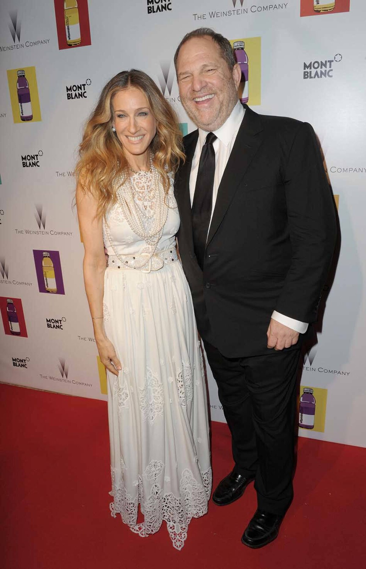 Sarah Jessica Parker and Harvey Weinstein attend the Weinstein Company VIP Press Event at the Martinez Hotel during the Cannes Film Festival on Friday.