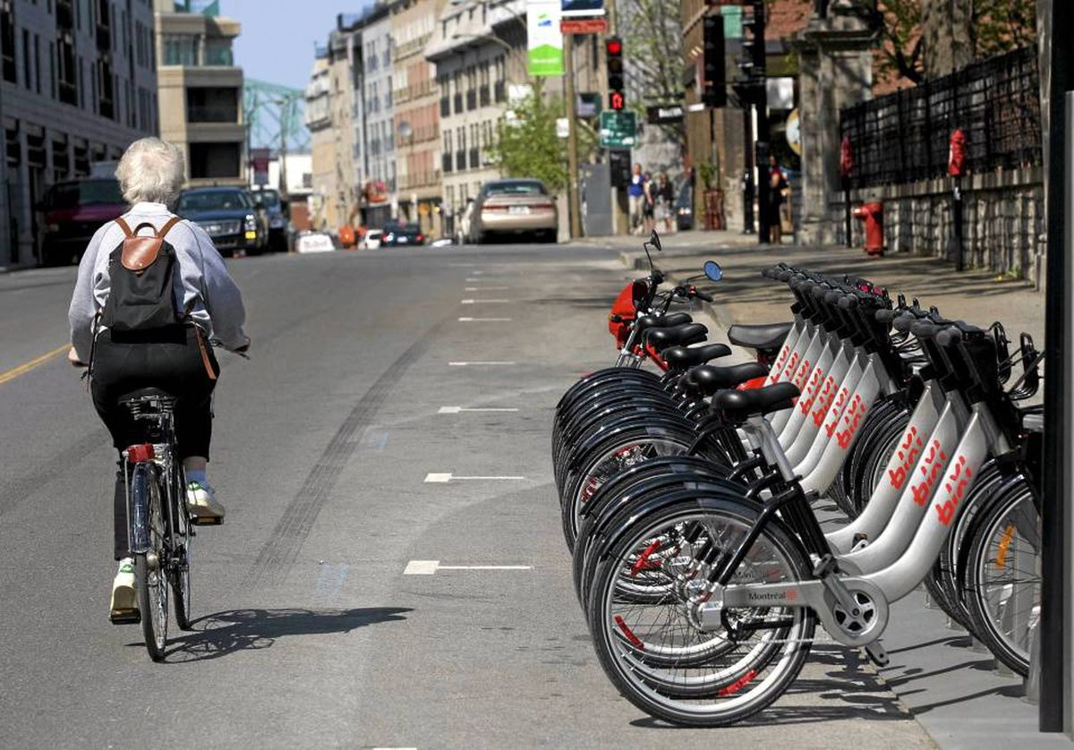 BIXI, a public bike-rental system, was launched in Montreal in May, 2009, with more than 3,000 bicycles available at 300 stations across the city.
