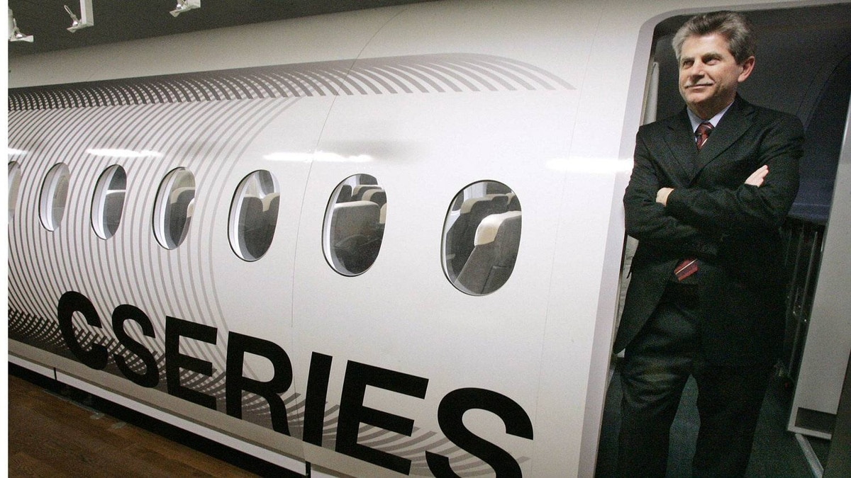 Gary Scott, president of new commercial aircraft at Bombardier, in a C Series mock-up in Montreal .