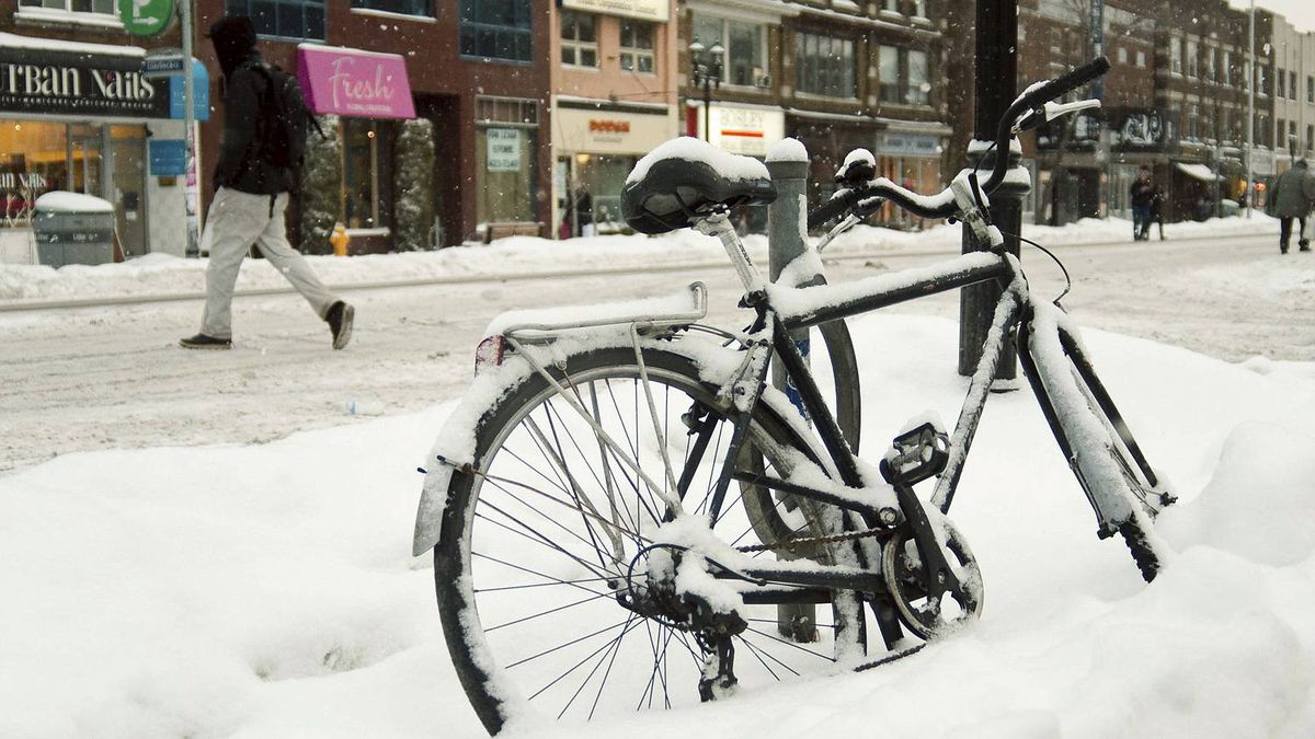 Darmaine Quillao photo: Parking - bicycle parked along Danforth Avenue