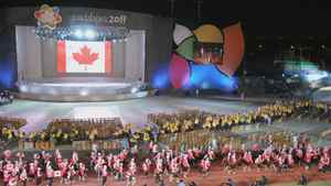 An excited Team Canada entered the stadium this evening to celebrate the official opening of the Guadalajara 2011 Parapan American Games in Mexico. (CNW Group/CANADIAN PARALYMPIC COMMITTEE (CPC))