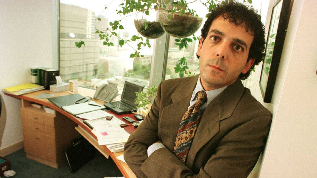 Lawyer Frank Addario in his office.