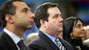 Immigration Minister Jason Kenney attends a service at the Toronto Airport Christian Fellowship on January 10, 2010.