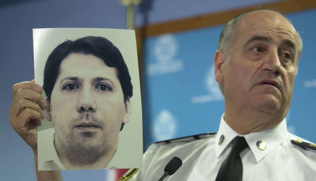 Police chief Julian Fantino holds photo of Holly Jones murder Michael Briere during press conference June 23, 2003. In 2004 he was driven directly to Kingston Penitentiary by Toronto homicide detectives after he pleaded guilty to abducting 10-year-old Holly Jones, sexually assaulting her, strangling her and dismembering the body. He is also held in protective custody in the Lower H segregated range away from the general prison population.