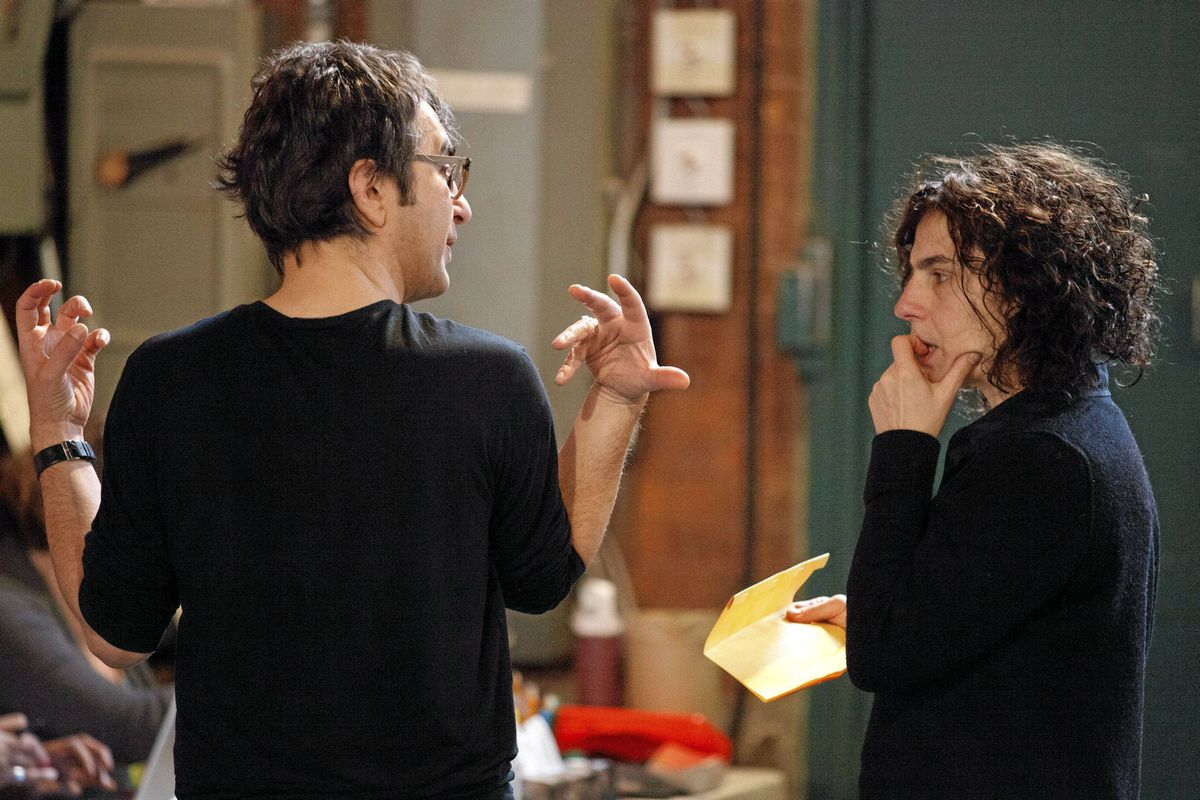 Atom Egoyan with Arsinee Khanjian in rehearsals for Cruel and Tender.