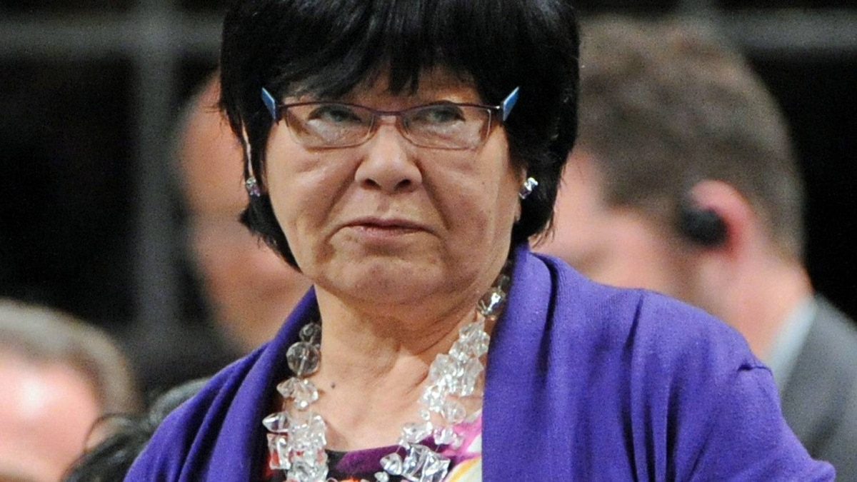 International Co-operation Minister Bev Oda speaks during Question Period in the House of Commons on May 31, 2012.