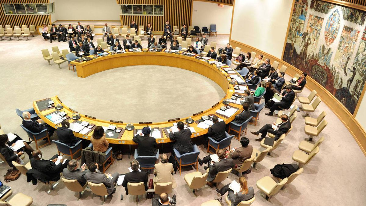 The United Nations Security Council during a meeting on March 17, 2011, at UN headquarters in New York.