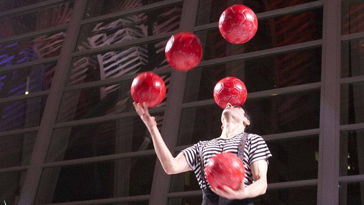 Edward Extraordinaire, a performer with Toronto-based Zero Gravity Circus.