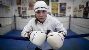 Bianca Paquin, a 14-year-old boxer, trains at Titans Gym in Halifax, Tuesday.