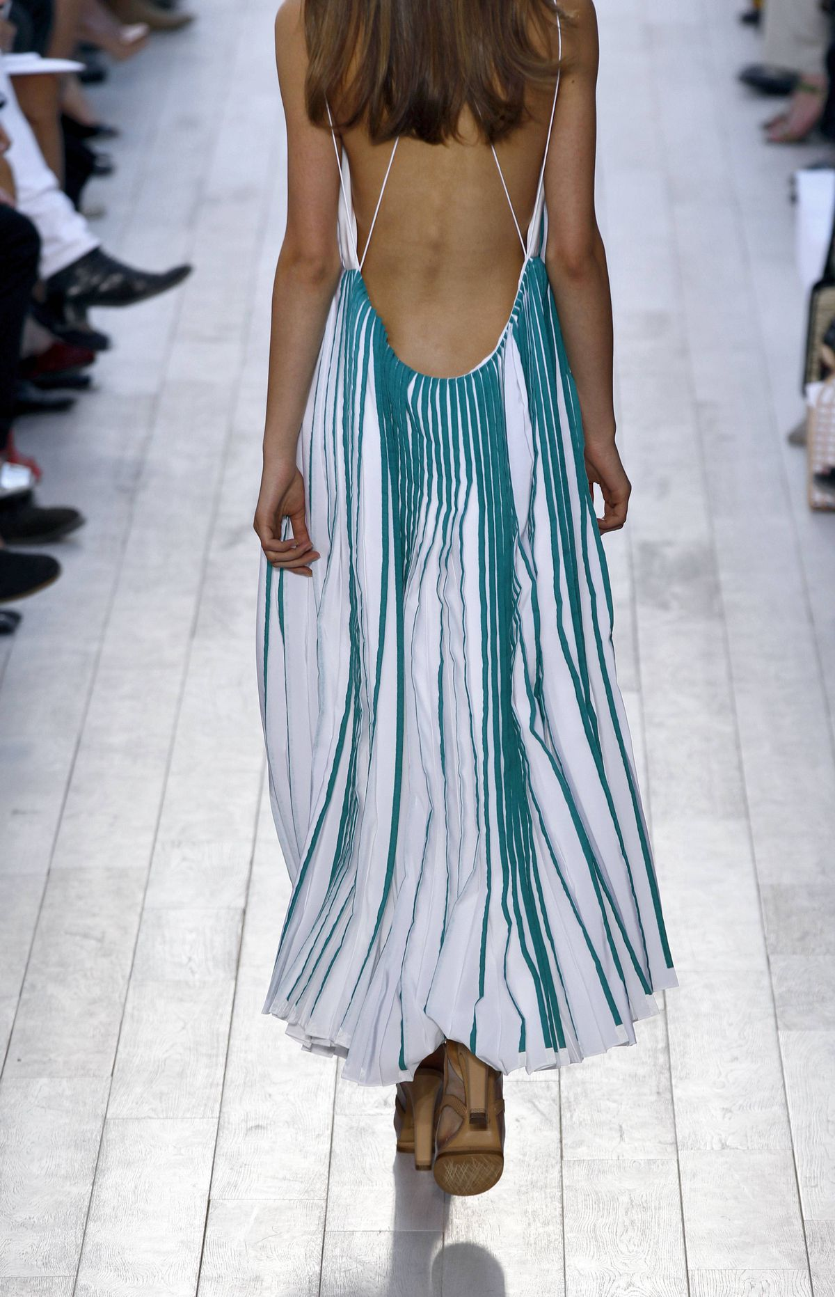 At least this is an unquestionably attractive back. But Chloé followers are likely pondering whether the collection was assertive enough. (It wasn't.)