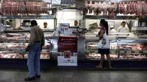 A woman shops at the the Municipal Market in Sao Paulo.