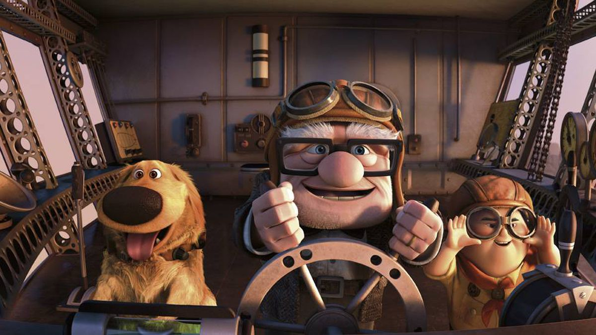 Left to right: Dug, Carl and Russell.
