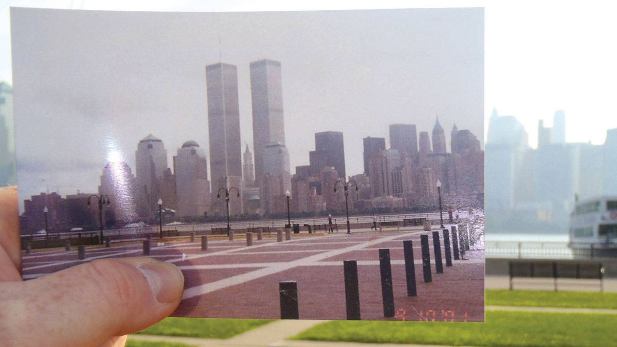 Thousands have embraced the nostalgic concept and submitted snapshots. This original image of the Twin Towers in New York, above, was taken on 9-10-01, one day before the Sept. 11 attacks.
