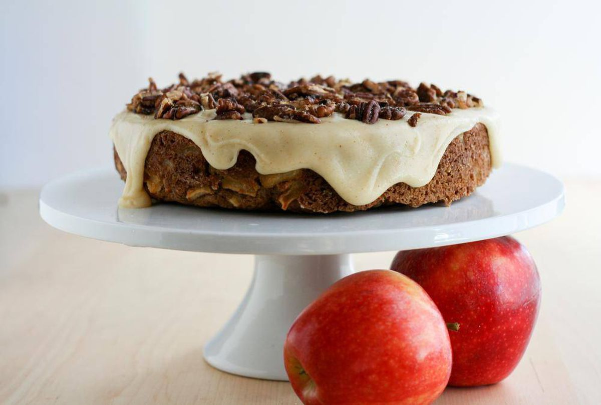 Recipe: Apple Cake with Brown Butter Pecan Icing - The ...