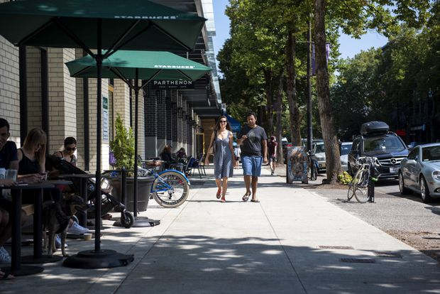 Vancouver widens sidewalks in bid to adapt to city's density