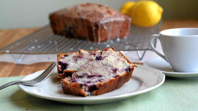 Lemon blueberry buttermilk pound cake