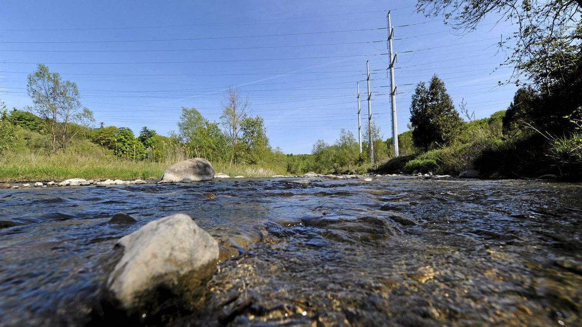 A hydro corridor crosses the Little Rouge River which is located in the proposed site of a national park which is currently Rouge Park. Some land will be acquired which will make the park stretch from Lake Ontario up to the town of Markham.