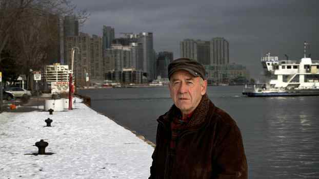 Tom Butscher photographed by Lake Ontario