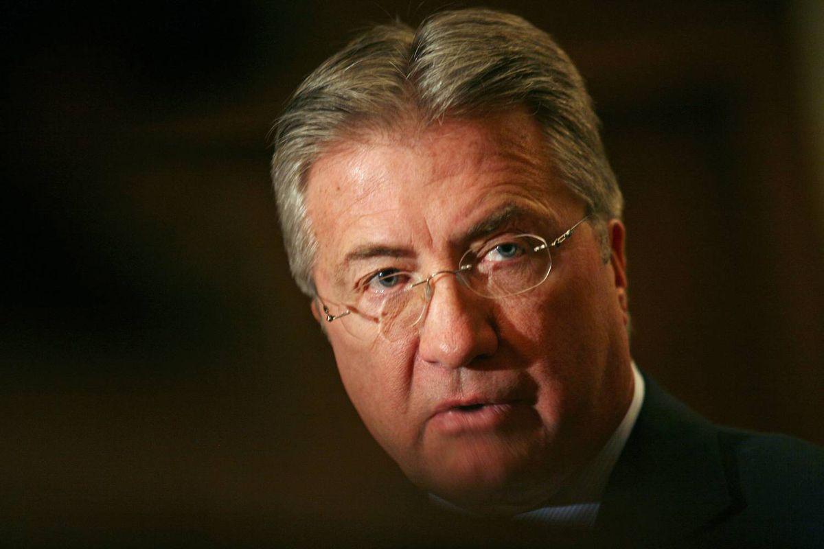 Newfoundland Premier Danny Williams speaks in St. John's on January 28, 2009.