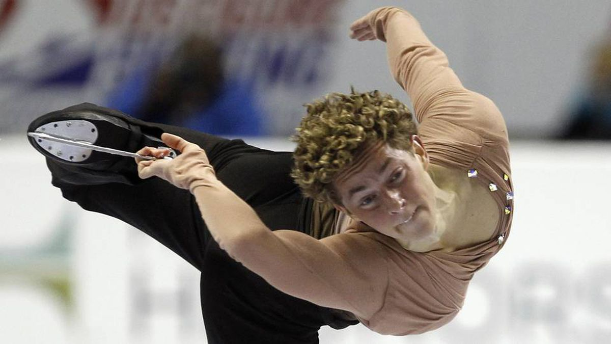 Adam Rippon skates to a second place finish in the men's free skate competition during the U.S. Figure Skating Championships in San Jose.