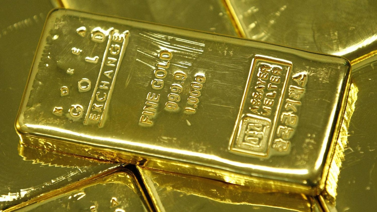 One kilogram gold bars are seen in this picture illustration taken at the Korea Gold Exchange in Seoul August 9, 2011.